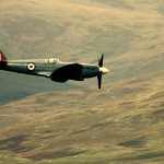 Spitfire over the Moffat Hills