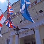 Annandale Arms Hotel and restaurant flags