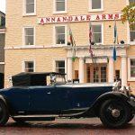 Rolls Royce Phantom III outside the Annandale Arms Hotel