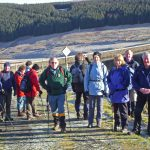 Hill walkers at Fruid Reservoir