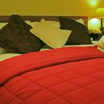 kingsize double bed with pillows